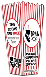 Paper Popcorn Style Box - Assemble Product - 14 pt.