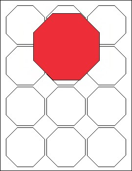 STICKER OCTAGON 2 1/2- 12 UP
