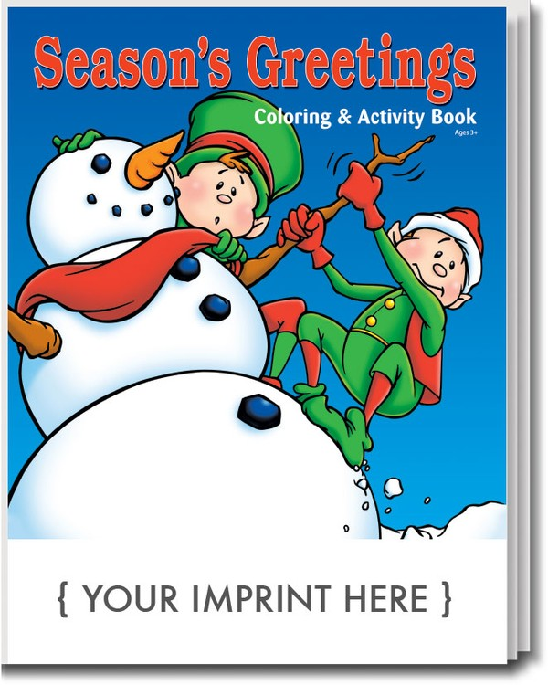 COLORING BOOK - Season\'s Greetings Coloring & Activity Book - 0535 ...