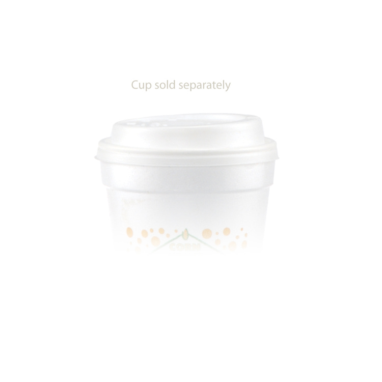 14/16/20 oz Foam Cup Domed Lid - White