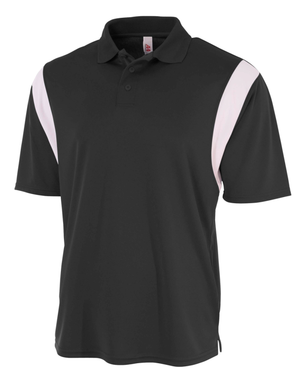 A4 Color Block Polo with Knit Color