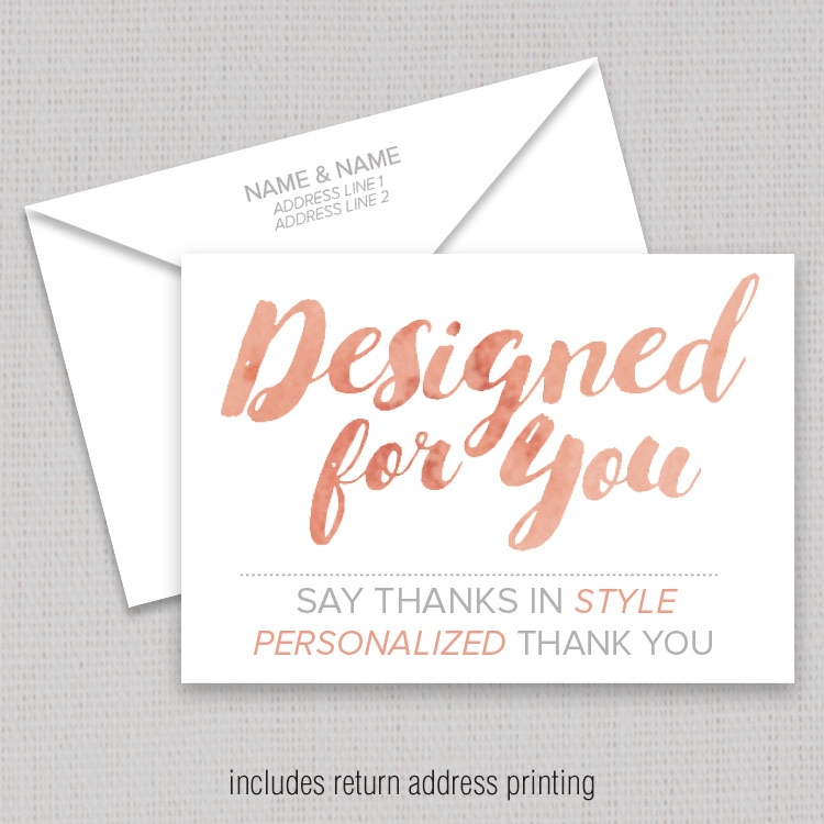 Designed For You 3 5x5 Thank You Card With Envelopes 002 Thank