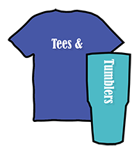 Tees and Tumblers wants to put the right promotional product in your clients hand and YOU Win!