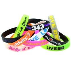 Color Filled Silicone Wristband