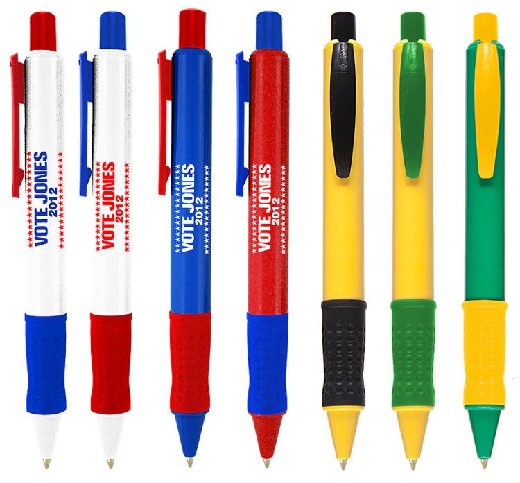 American Made Collection Pen with Rubber Grip and Pocket Clip