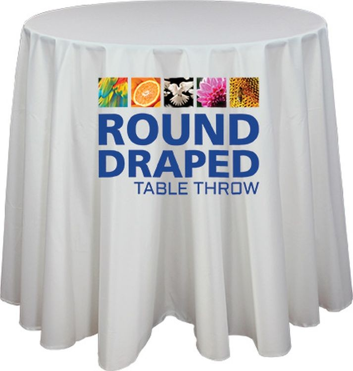 30 Round Draped Table Throw 48 Diameter