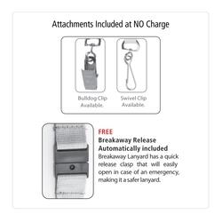 3/4 Silkscreen Lanyard with FREE Breakaway Release