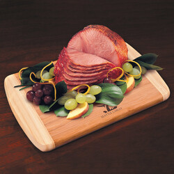 Honey Cured Boneless Ham with Bamboo Cutting Board