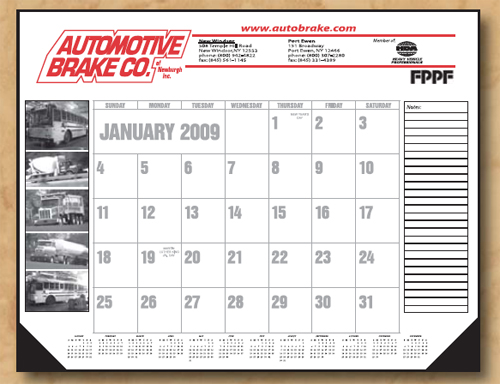 The Standard Economy Line Desk Calendar