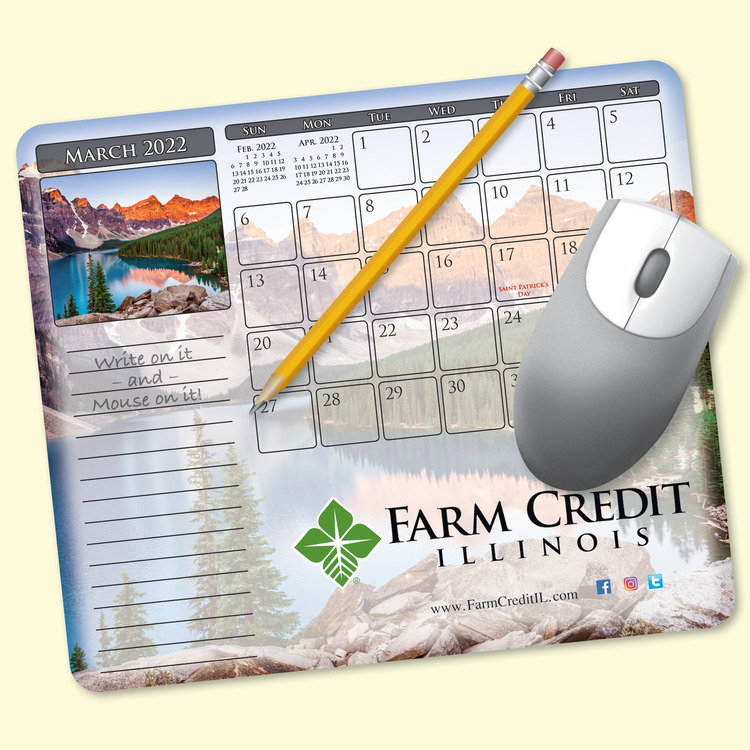 MousePaper® Calendar 18 Month Recycled Note Paper (Landscape) Mouse Pad