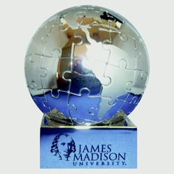 World Globe Stainless Steel Magnetic Puzzle-Large - GLOBE PUZZLE