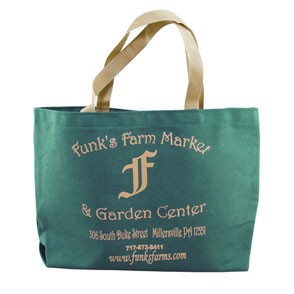 Colored Canvas Tote w/Gusset (14