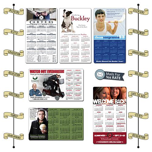 Announcement Calendar Magnet - 3.5x6 Round Corners - 25 mil.