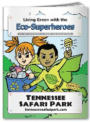 Coloring Book - Living Green with the Eco-Superheroes - Activity and Coloring Book - Living Green with the Eco-Superheroes
