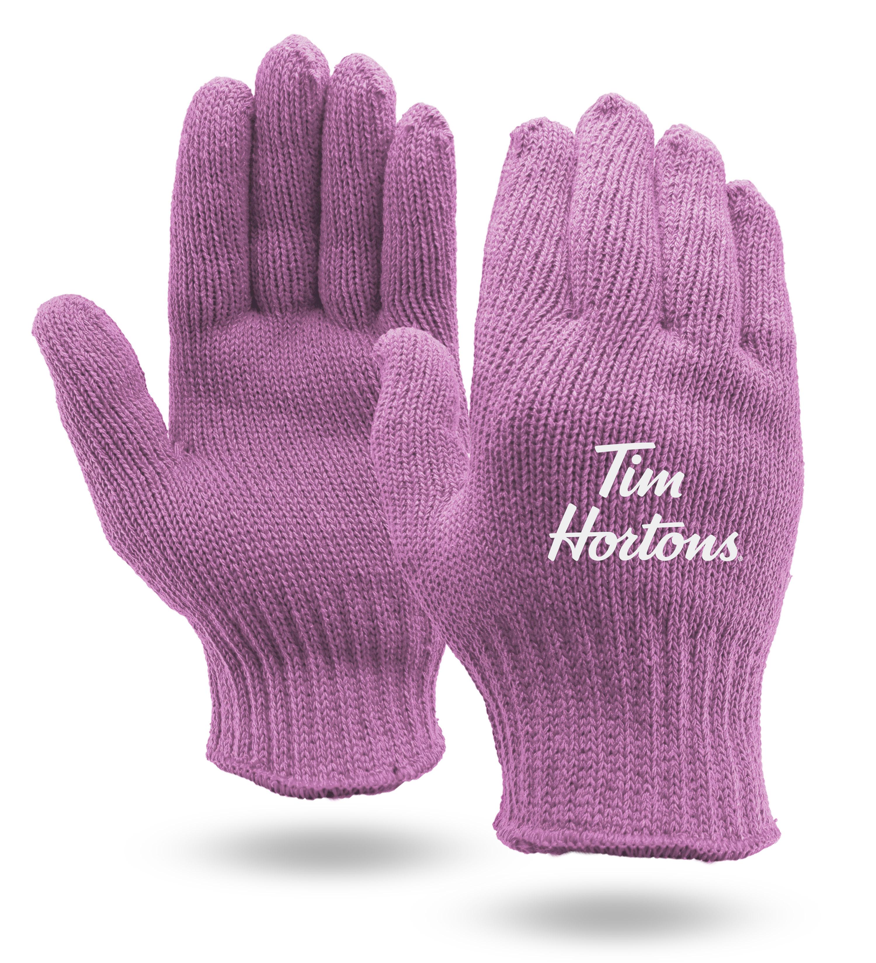 Pink Knit Gloves
