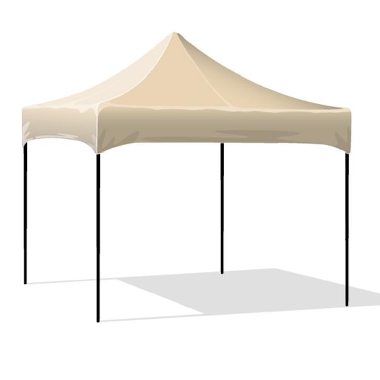 10x10 Canopy Plain Cream Top Gt10c Ks Custom Logo