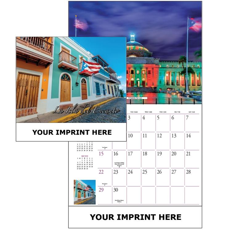 The Global Econoline Calendar/ La Isla Del Encanto - Puerto Rico - Caribbean