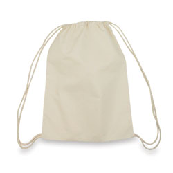 5 oz. Cotton Drawstring Cotton Bag drawstring closure natural color only backpack