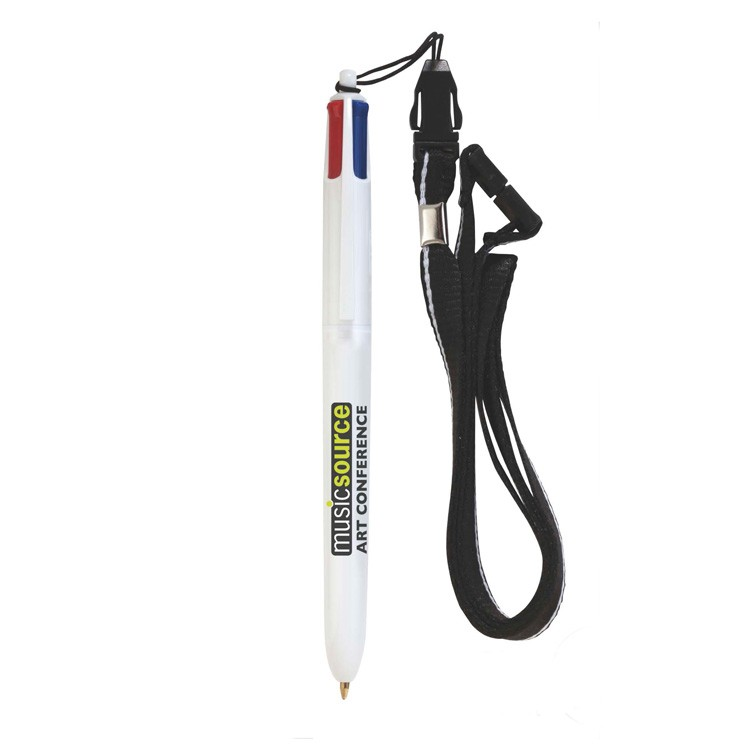 BIC &174 4-Color? Pen with Lanyard