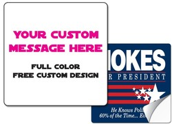 Sticker / Decal - 8x8 Inch Square w/ Round Corners - UV Coated Removable Vinyl