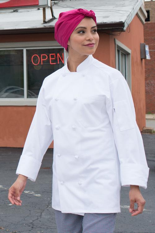 100% Cotton Knot Chef Coat