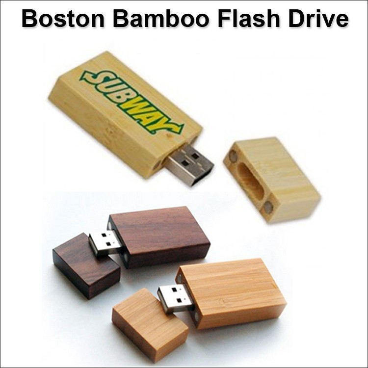 Boston Bamboo Flash Drive / USB - 1 GB