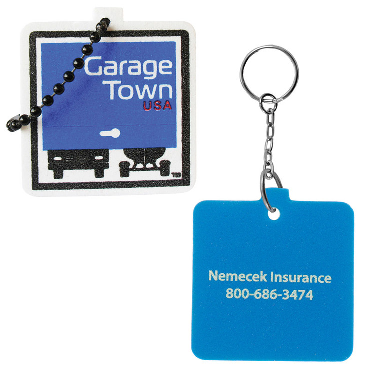 Square Floating Key Tag