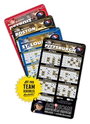Magnet Sport Schedules - 4x7 Hockey Round Corners - 25 mil.