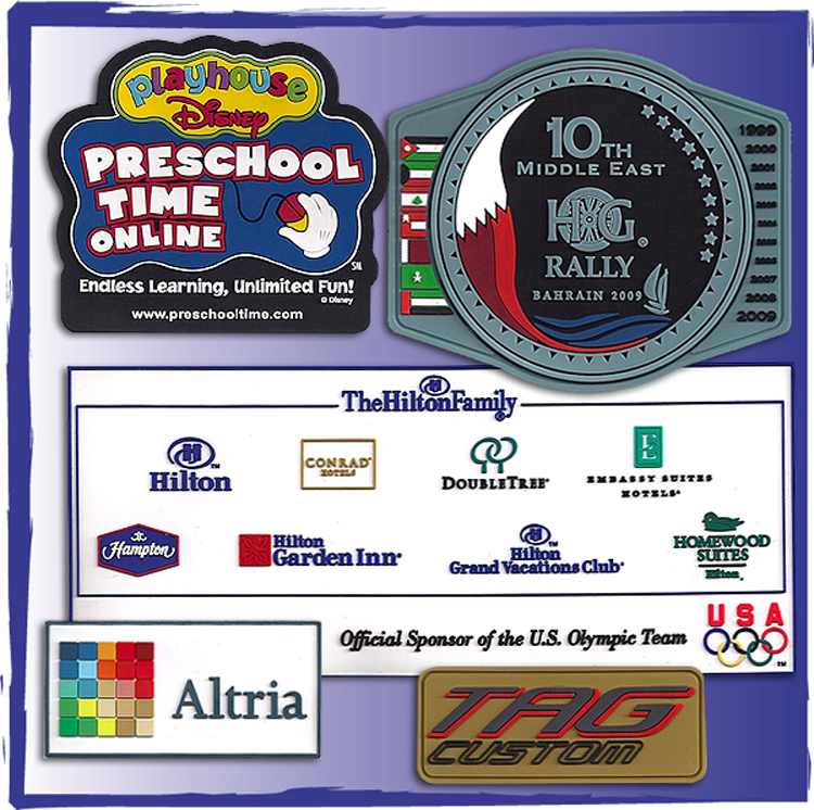 Soft PVC Labels Orient for Decorating Blank Goods