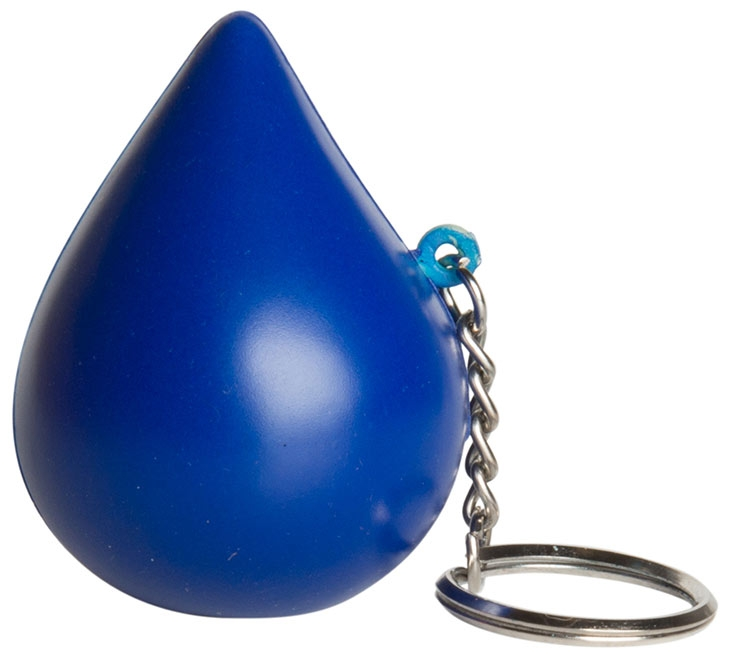 Blue Drop Squeezie Keyring