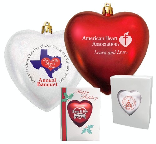 4 IN Heart Shaped Ornament