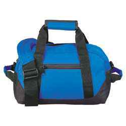 600D Poly TWO TONE DUFFEL BAG velcro handle two side handle removable shoulder strap