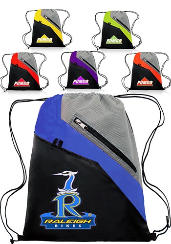 Polyester Combo Non-Woven Drawstring Backpack Bag - 13 W x 16 H