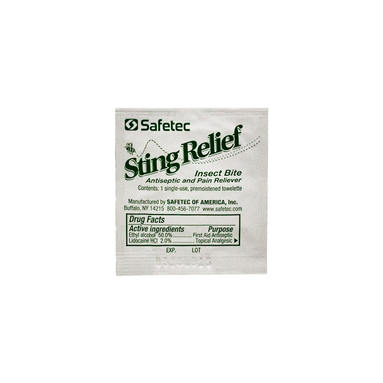 Safetec Sting Relief Wipe