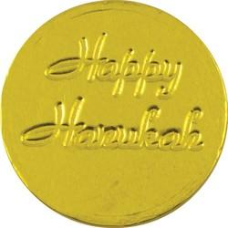 Happy Hanukkah Chocolate Coin