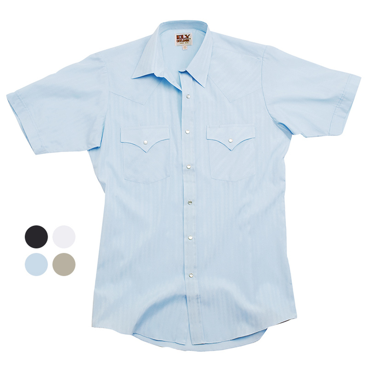 Short Sleeve Tone-on-Tone Western Shirt