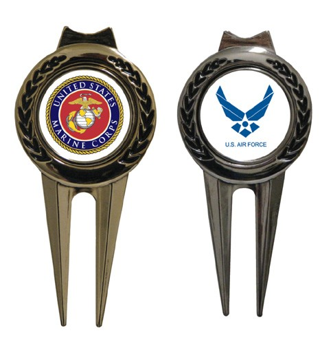 Military Tour Series Divot Tool with Clip Polished Finish
