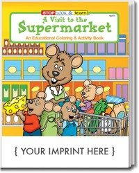 COLORING BOOK - A Visit to the Supermarket Coloring and Activity Book