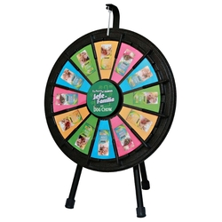20.5 Black Tabletop Mini Prize Wheel - Prize Wheel