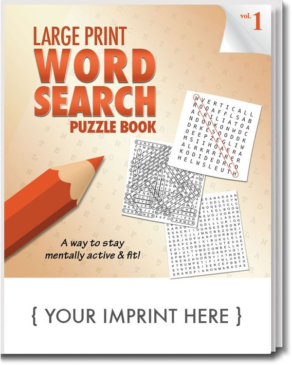 image regarding Large Printable Word Search known as PUZZLE E book - Significant PRINT Phrase Glance Puzzle E-book - Quantity 1