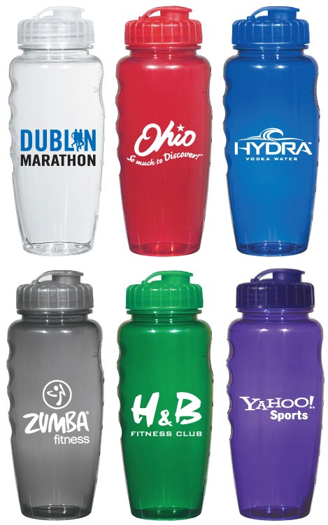 30 oz. Gripper Eco-Polyclear Sports Fitness Water Bottle