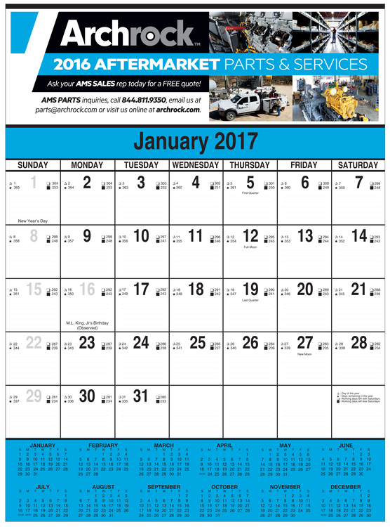 Full Color Contractor's Commercial Multi Sheet Wall Calendar
