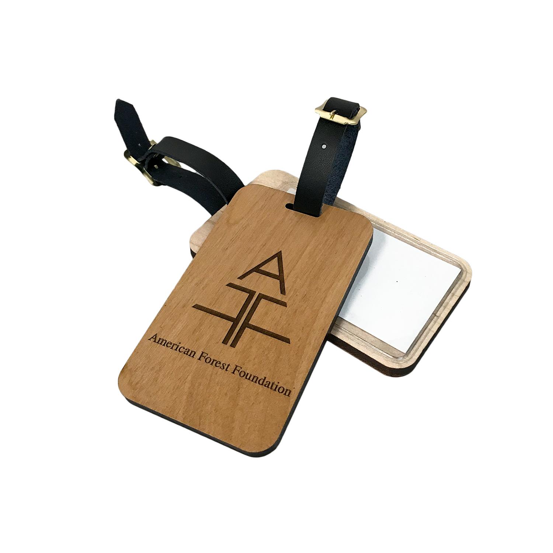 Wood Luggage Tag