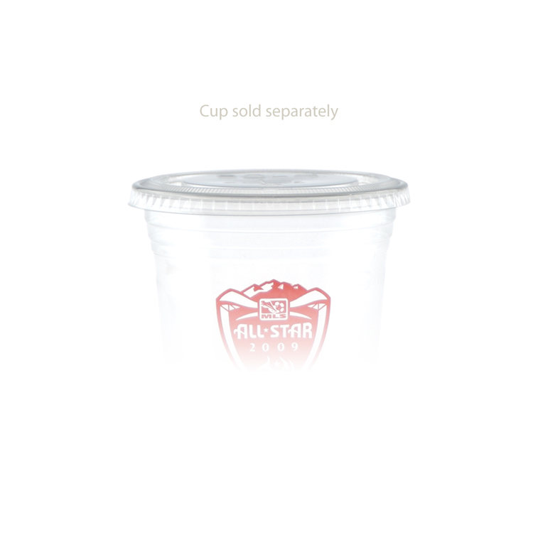 16/20/24 oz Soft Sided Cup Straw Slot Lid - Clear
