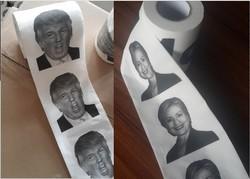 Donald Trump, Hillary Clinton Toilet Paper