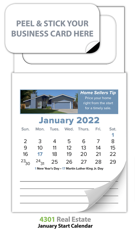 Magnetic Real Estate Calendar (MBC) - Jan. 2018 w/Cover