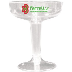 4 Oz. 2 Piece Clear Plastic Champagne Glass