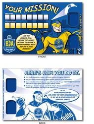 3D Greets Post Cards - Blue Decoder Lens - Custom Imprint