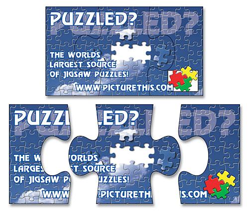 Magnet - 3-Piece Puzzle Shape (3.5x2) - 20 Mil.