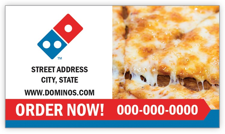 Domino's Pizza Business Card Magnet - Cheese